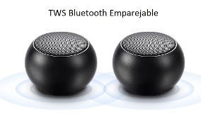 2 Mini parlantes portable Bluetooth stereo emparejable