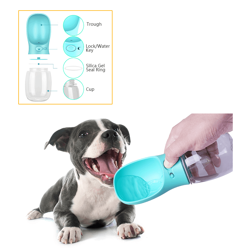 Dispensador de agua para mascotas portable 350ML
