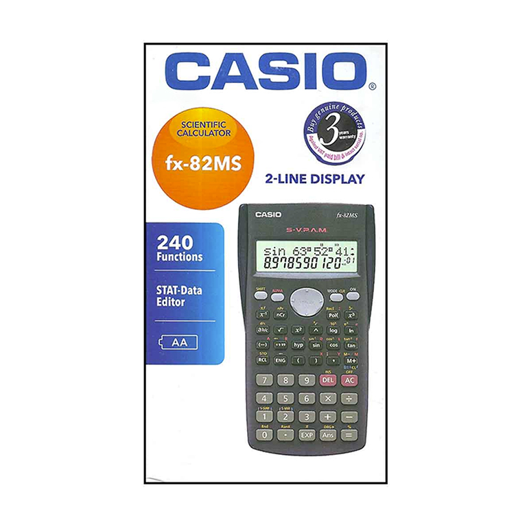 Calculadora Casio FX82MS 240 Funciones integradas