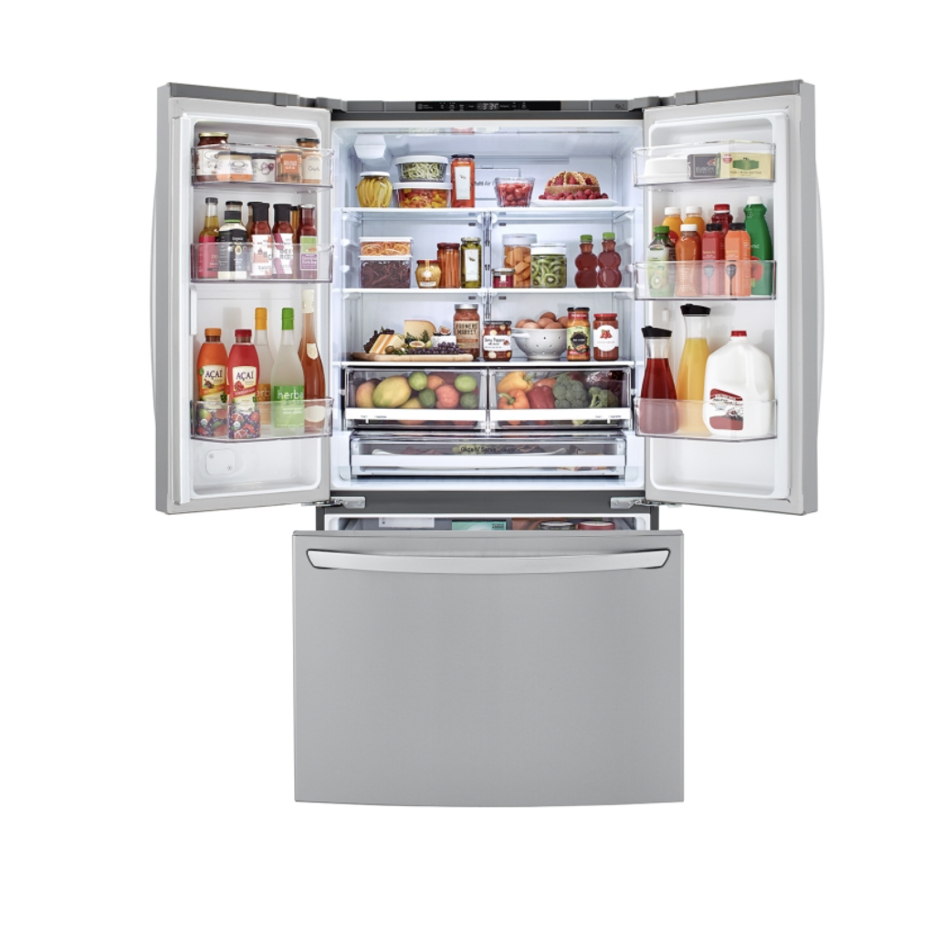 Refrigerador LG GM78BGS 695lts / French Door / Compresor linear inverter / Stainless / Smart ThinQ