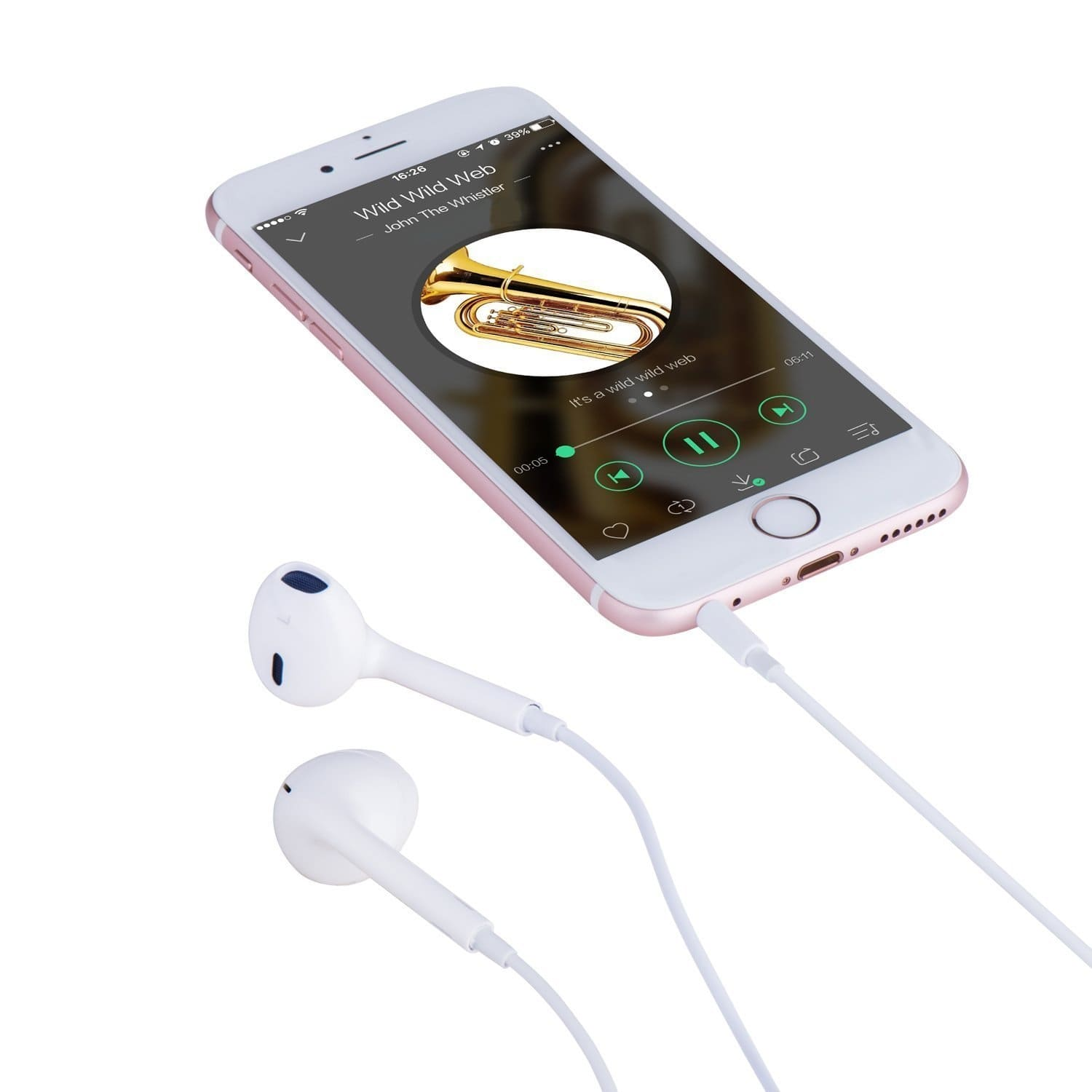 Audifonos Apple Earpods Original 3.5 mm + Control de volumen