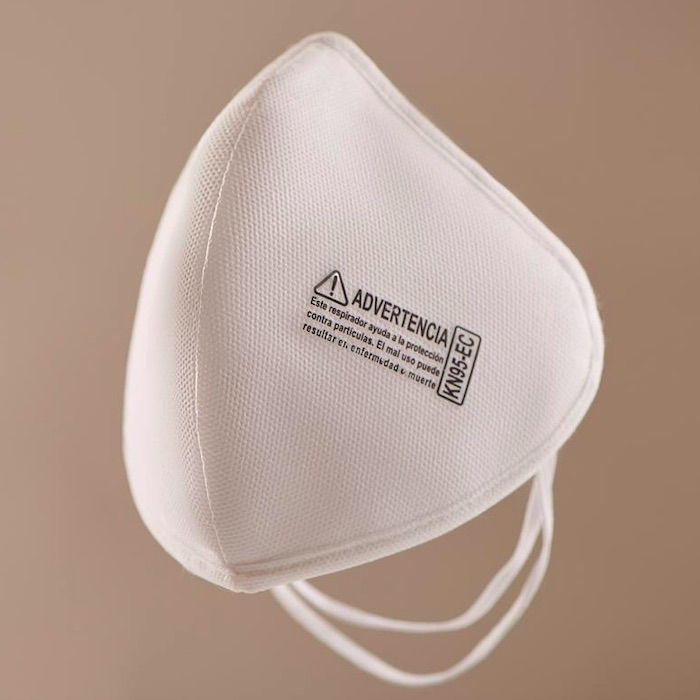 Mascarilla KN95 4 capas, diseño 3D, reusable lavable Color Blanco